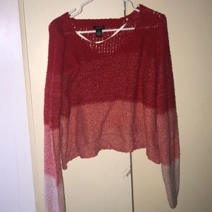 Rue 21 sweater crop top